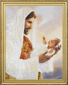 Набор для вышивки бисером Иисус с младенцем Картины бисером Р-368 - 404.00грн.
