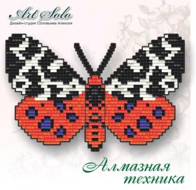 Набор-магнит для выкладки алмазной мозаикой Медведица Кайя (Arctia caja) Art Solo БАТ04 - 110.00грн.