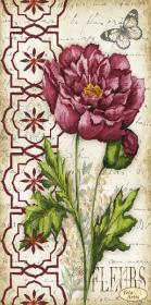 Схема для вышивки бисером на атласе Винтаж. Пион, , 95.00грн., ТА-396, Tela Artis (Тэла Артис), Цветы