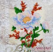 Набор для вышивки бисером на холсте Белый цветок