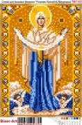 Схема вышивки бисером на габардине Покрова Пресвятої Богородиці