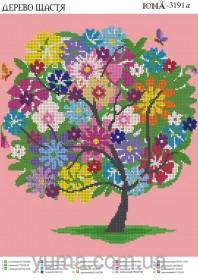 Схема вышивки бисером на атласе Дерево счастья Юма ЮМА-3191А - 62.00грн.