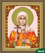 Рисунок на ткани для вышивки бисером Святая Емилия