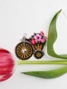 Набір для вишивання бісером прикраси Велосипедик