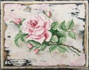 Набор для вышивания нитками Роза 1