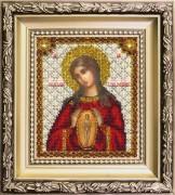Набор для вышивки ювелирным бисером Икона Богородицы Помощница в родах
