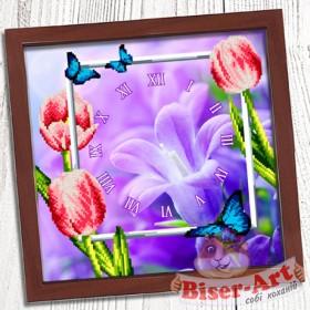 Схема вышивки бисером (нитками) на габардине Годинник Весняний Biser-Art 37410 - 80.00грн.