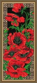 Набор для выкладки алмазной мозаикой Маки, , 500.00грн., АТ3202, Art Solo, Цветы