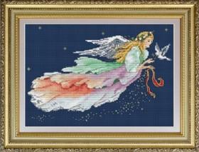 Набор для вышивки нитками Ангел Рождества, , 330.00грн., VN-058, OLANTA, Новый год