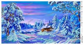 Схема для вышивания бисером на атласе Сказочная зима