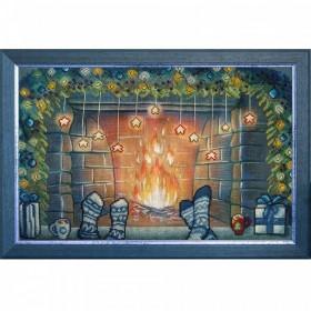 Набор для вышивки нитками и бисером Рождество вдвоем
