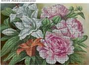 Схема для вышивки бисером на габардине Цветы