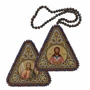 Набор для вышивания бисером двухсторонней иконы оберега Св. Прп. Алексий Человек Божий и Ангел Хранитель