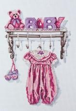 Набор для вышивки крестом Малыш. Девочка Абрис Арт АН-052