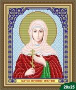 Рисунок на ткани для вышивки бисером Св. Христина