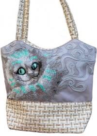 Пошитая сумка для вышивки бисером Чеширский кот, , 600.00грн., ЕС-001, Миледи, Наборы для вышивки косметичек