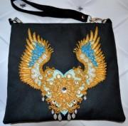 Пошитый клатч для вышивки бисером Крылатая любовь