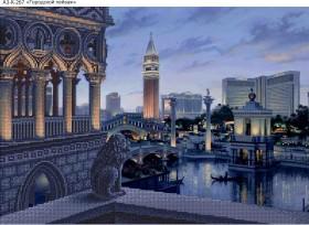 Схема для вышивки бисером на габардине Городской пейзаж, , 70.00грн., А3-К-267, Acorns, Пейзажи и натюрморты