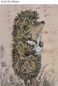 Схема для вышивки бисером на габардине Ёжик Acorns А5-Д-183 - 30.00грн.