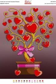 Схема для вышивки бисером на атласе Дерево кохання
