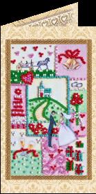 Набор - открытка для вышивки бисером С Днём Бракосочетания 6 Абрис Арт АО-114 - 68.00грн.