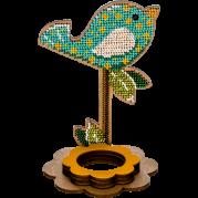 Набор для вышивки бисером по дереву Птичка