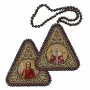 Набор для вышивания бисером двухсторонней иконы оберега Св. Равноап. Царица Елена и Ангел Хранитель