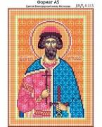 Схема вышивки бисером на габардине Святой Благоверный князь Мстислав