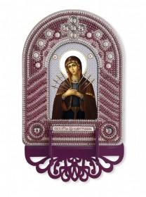 Набор для вышивки иконы с рамкой-киотом Богородица Семистрельная