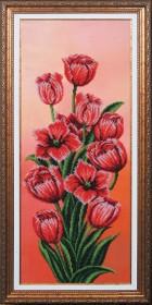 Набор для вышивки бисером Вдохновение Тюльпаны, , 641.00грн., Б-196 МК, Магия канвы, Цветы