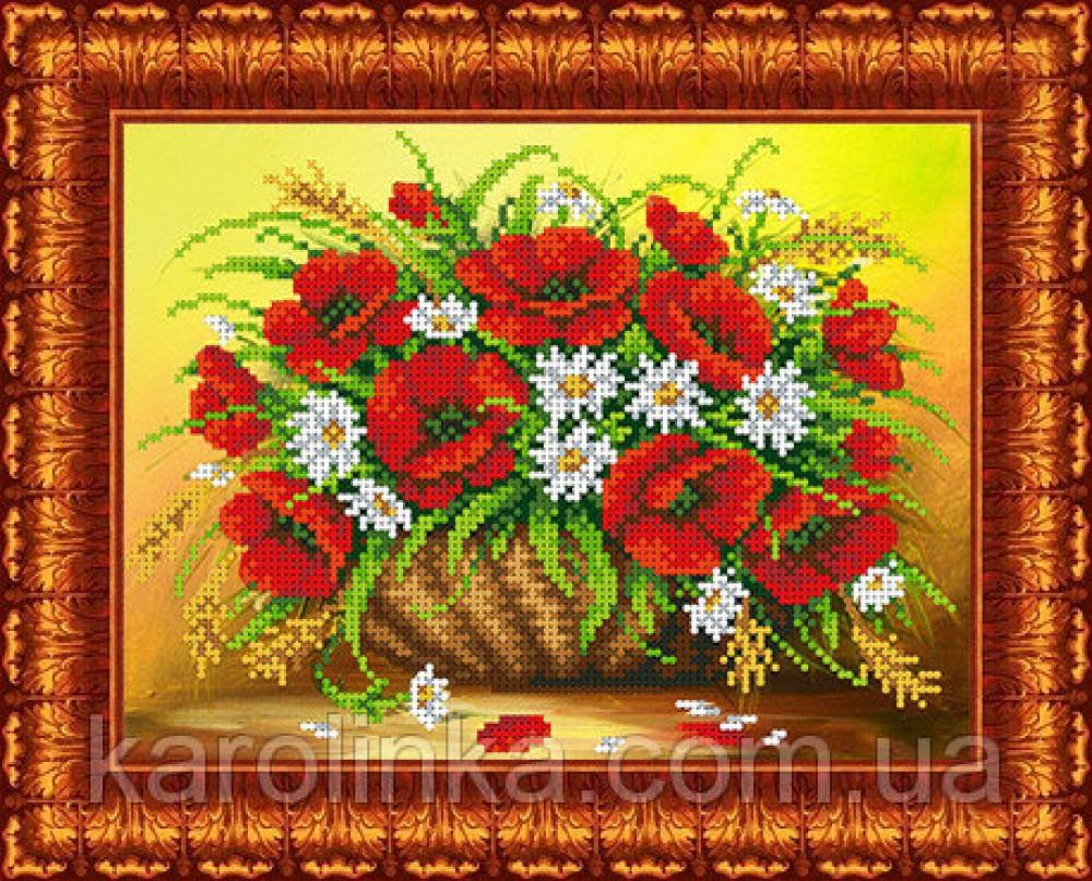 Набор для вышивки бисером Маки и ромашки Каролинка КБЦН-4027 цена ... c8c3967900067