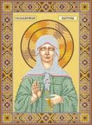 Схема вышивки бисером на холсте Св. Матрона Московская