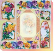 Набор для вышивки бисером Фоторамка Цветочная история
