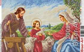 Схема вышивки бисером на габардине Свята сімейство, , 108.00грн., 40х60-3009, Biser-Art, Рисунки на ткани для вышивки икон А2 (Схемы для вышивки бисером)