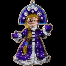 Набор для вышивания по дереву Снегурочка Волшебная страна FLK-322