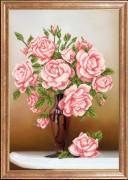 Схема для вышивки бисером на атласе Свежие розы