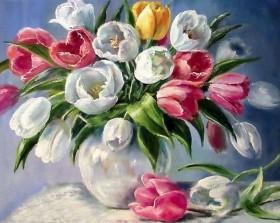 Набор для выкладки алмазной мозаикой Тюльпаны в вазе