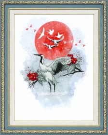 Набор для частичной вышивки крестом  Журавлиная песня Чарiвна мить (Чаривна мить) РК-098 - 403.00грн.