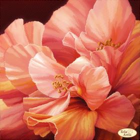 Схема для вышивки бисером на атласе Атласные лепестки-2, , 98.00грн., ТА-384, Tela Artis (Тэла Артис), Цветы