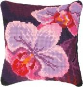 Набор для вышивки подушки крестиком Орхидея