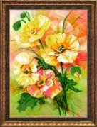 Схемы для вышивания бисером на авторской канве Букет цветов