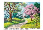 Схема вышивки бисером на атласе Весна колоритна