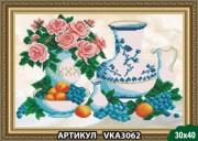 Рисунок на ткани для вышивки бисером Завтрак с виноградом