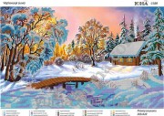 Схема вышивки бисером на атласе Волшебница зима