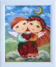 Рисунок для вышивки бисером Ангелочки влюблены Баттерфляй (Butterfly) 962Б