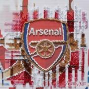 Набор-мини для вышивки бисером на натуральном художественном холсте ФК Арсенал