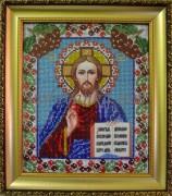 Рисунок на габардине для вышивки бисером Иисус