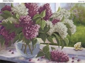 Схема для вышивки бисером на габардине Запахи весны, , 70.00грн., А3-К-132, Acorns, Цветы