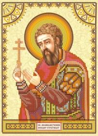 Схема для вышивки бисером на холсте Святой Феодор (Фёдор)
