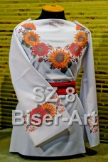Заготовка для вышивки бисером Сорочка женская Biser-Art Сорочка жіноча SZ-8 (льон)